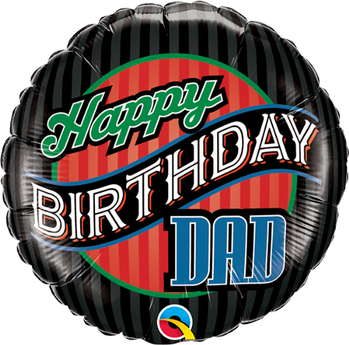 25576: - :Happy Birthday - Dad Stripes